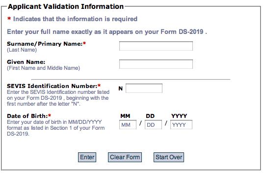 Demarches Pour La Demande De Visa Sevis Ds160 Rdv A L Ambassade